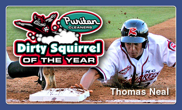 Puritan Cleaners awards Thomas Neal Dirty Squirrel of the Year