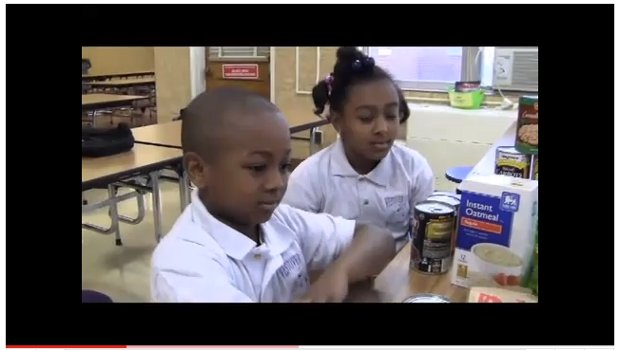 Westover Hill Elementary kids collecting food & funds for 100k Meals