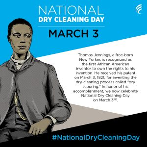 "Thomas Jennings was the first African-American man to receive a U.S. patent for the dry cleaning process he called ""dry-scouring"""